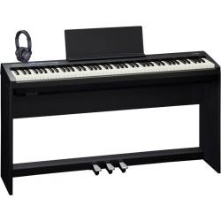 ROLAND -PACK- FP30BK PIANO DIGITAL + SOPORTE + PEDALERA Y AURICULARES ROLAND