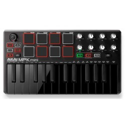 AKAI MPK MINI MK2 LE BLACK TECLADO CONTROLADOR USB NEGRO