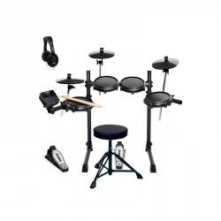 ALESIS -PACK- TURBO MESH KIT BATERIA ELECTRONICA + BANQUETA Y AURICULARES