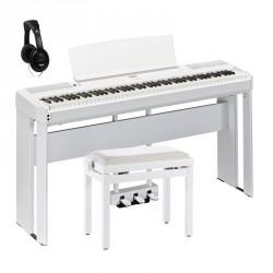 YAMAHA -PACK- P515 WH PIANO DIGITAL BLANCO + SOPORTE + PEDALERA + BANQUETA Y AURICULARES
