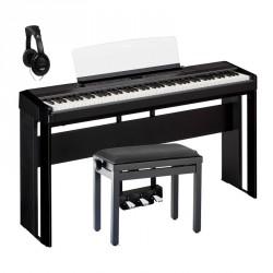 YAMAHA -PACK- P515 B PIANO DIGITAL NEGRO + SOPORTE + PEDALERA + BANQUETA Y AURICULARES