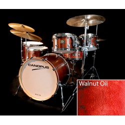 CANOPUS RFM MAPLE STANDARD KIT CHROME HARDWARE BATERIA ACUSTICA WALNUT OIL