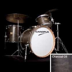 CANOPUS ASH CLASSIC KIT CHROME HARDWARE BATERIA ACUSTICA CHARCOAL OIL