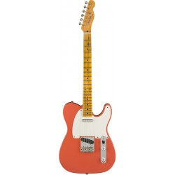 FENDER CUSTOM SHOP 2019 RELIC 1956 TELECASTER GUITARRA ELECTRICA SUPER FADED FIESTA RED. BOUTIQUE