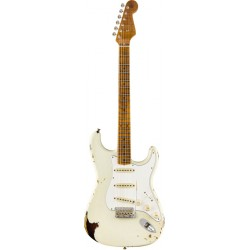 FENDER CUSTOM SHOP LTD ROASTED TOMATILLO STRATOCASTER MN GUITARRA ELECTRICA AGED OLYMPIC WHITE