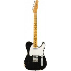 FENDER CUSTOM SHOP 2019 RELIC 1965 TELECASTER CUSTOM MN GUITARRA ELECTRICA AGED BLACK. BOUTIQUE