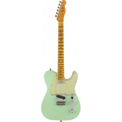 FENDER CUSTOM SHOP 2019 POSTMODERN TELECASTER MN GUITARRA ELECTRICA SURF GREEN OVER BLACK. BOUTIQUE