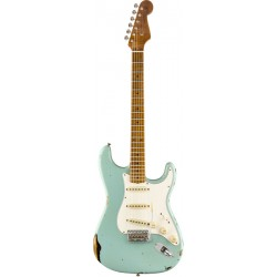 FENDER CUSTOM SHOP LTD ROASTED TOMATILLO STRATOCASTER MN GUITARRA ELECTRICA AGED DAPHNE BLUE