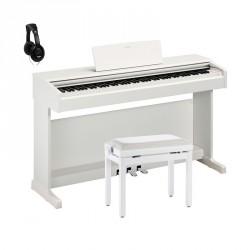 YAMAHA -PACK- YDP144WH PIANO DIGITAL ARIUS BLANCO + BANQUETA Y AURICULARES