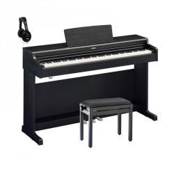 YAMAHA -PACK- YDP164B PIANO DIGITAL ARIUS NEGRO + BANQUETA Y AURICULARES