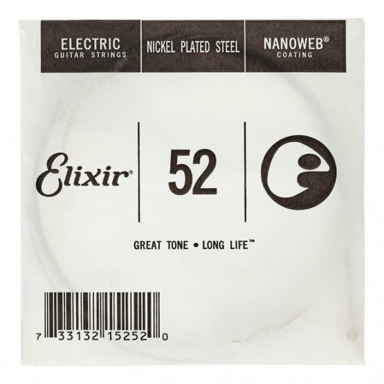 ELIXIR 052 NANOWEB CUERDA GUITARRA ELECTRICA CUSTOM LIGHT