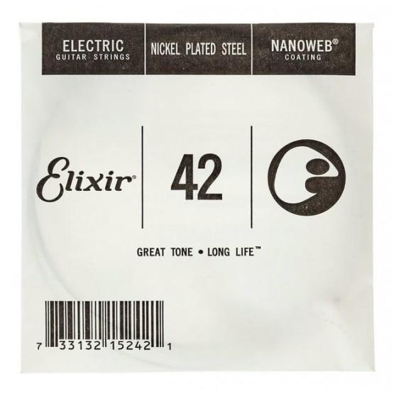 ELIXIR 042 NANOWEB CUERDA GUITARRA ELECTRICA CUSTOM LIGHT