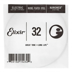 ELIXIR 032 NANOWEB CUERDA GUITARRA ELECTRICA CUSTOM LIGHT