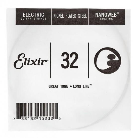 ELIXIR 032 NANOWEB CUERDA GUITARRA ELECTRICA CUSTOM LIGHT