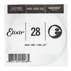 ELIXIR 028 NANOWEB CUERDA GUITARRA ELECTRICA CUSTOM LIGHT