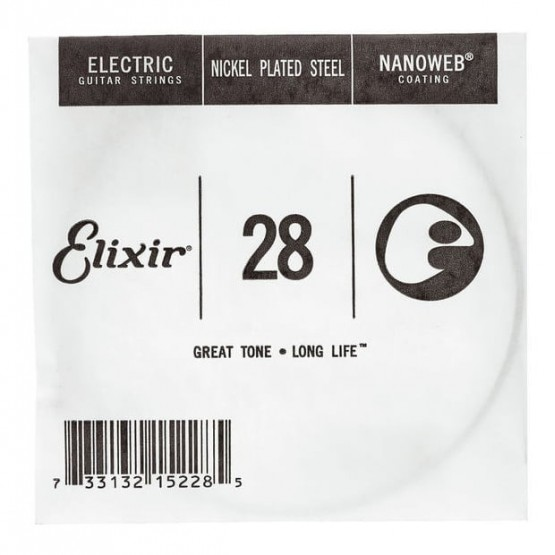 ELIXIR 028 NANOWEB CUERDA GUITARRA ELECTRICA CUSTOM LIGHT