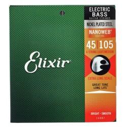 ELIXIR 14087 NANOWEB XL MEDIUM JUEGO CUERDAS BAJO 045-105