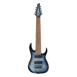 IBANEZ RGIR9FME FDF IRON LABEL GUITARRA ELECTRICA 9 CUERDAS FADED DENIM BURST FLAT. NOVEDAD