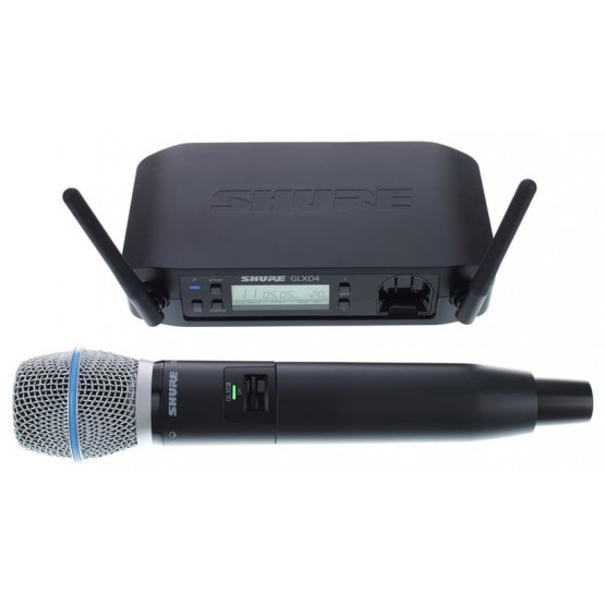 SHURE GLXD24E B87A SISTEMA INALAMBRICO DIGITAL DE MANO VOCAL BETA 87