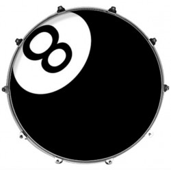 EVANS INK22GRP8BAL PARCHE BOMBO RESONANTE INKED GRAPHICS 8 BALL.