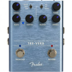 FENDER TRE-VERB DIGITAL PEDAL REVERB TREMOLO