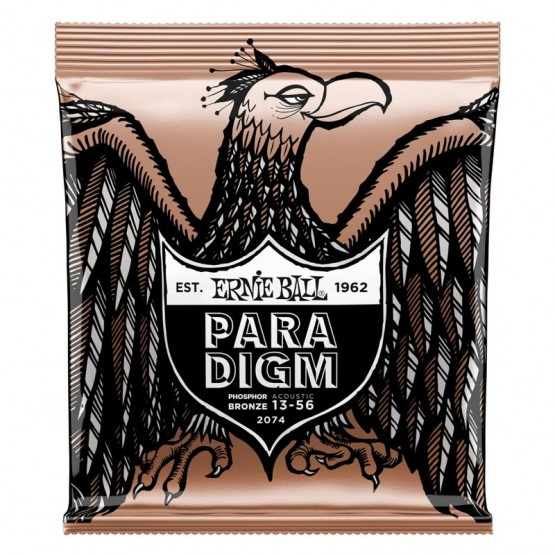 ERNIE BALL EB2074 PARADIGM MEDIUM PHOSPHOR BRONZE JUEGO CUERDAS GUITARRA ACUSTICA 013-056