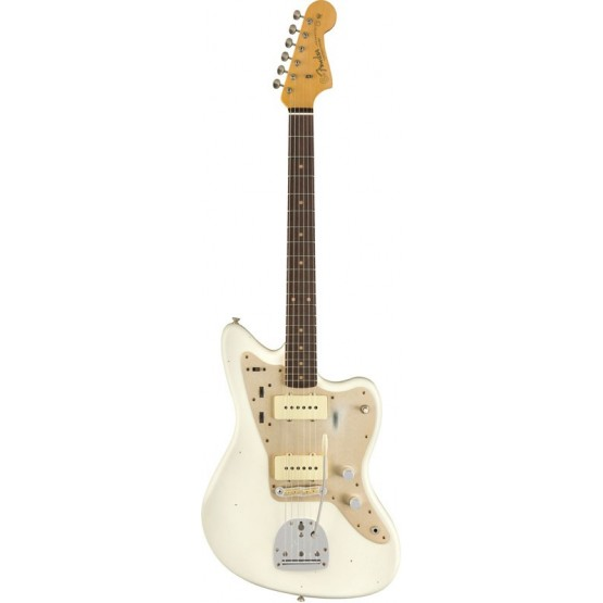 FENDER CUSTOM SHOP 2019 1959 JAZZMASTER GUITARRA ELECTRICA AGED OLYMPIC WHITE. BOUTIQUE