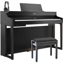 ROLAND -PACK- HP702 CH PIANO DIGITAL CHARCOAL BLACK + BANQUETA Y AURICULARES