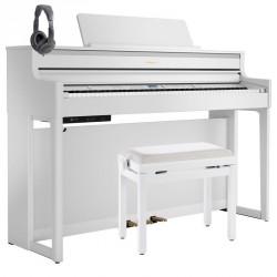 ROLAND -PACK- HP704 WH PIANO DIGITAL BLANCO + BANQUETA Y AURICULARES