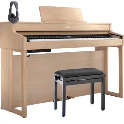 ROLAND -PACK- HP702 LA PIANO DIGITAL LIGHT OAK + BANQUETA Y AURICULARES