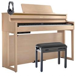 ROLAND -PACK- HP704 LA PIANO DIGITAL LIGHT OAK + BANQUETA Y AURICULARES