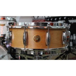 GRETSCH DRUMS BROADKASTER SATIN CLASSIC MAPLE SNARE CAJA BATERIA 14X5.5. DEMO.