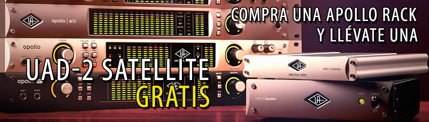 Promoción Universal Audio Apollo con UAD2 Satellite gratis