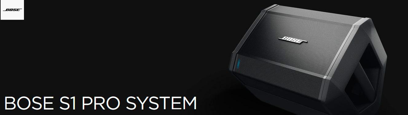 Sistemas de sonido de PA portátil Bose S1 Pro
