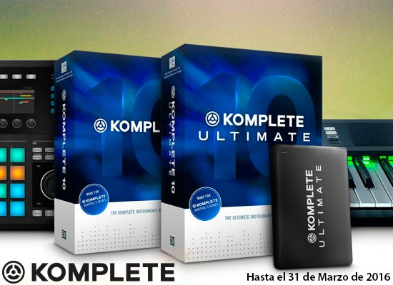 Gran descuento software Native Instruments Komplete 10