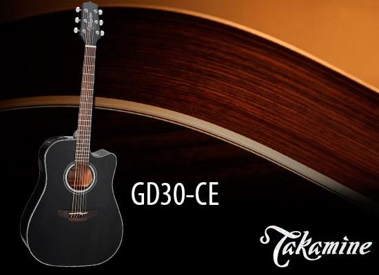 Guitarra acústica Takamine GD30CE BLK