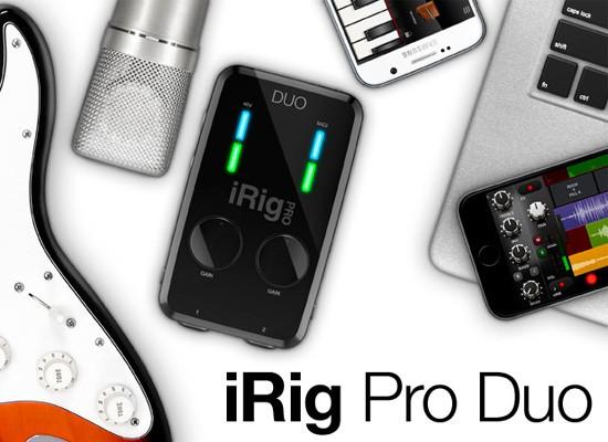 Interfaz de audio IK IRig Pro Duo para dispositivos iOS y Android