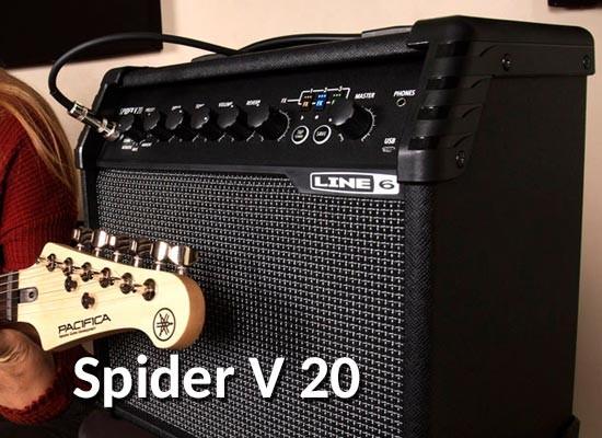 NUEVOS AMPLIFICADORES LINE 6 SPIDER V 20