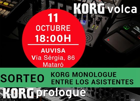 11/10/2018: CLINIC KORG PROLOGUE Y KORG VOLCA