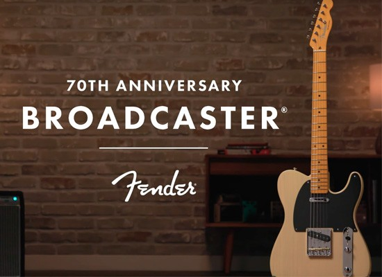 DISPONIBLE: GUITARRA ELÉCTRICA FENDER 70TH ANNIVERSARY BROADCASTER