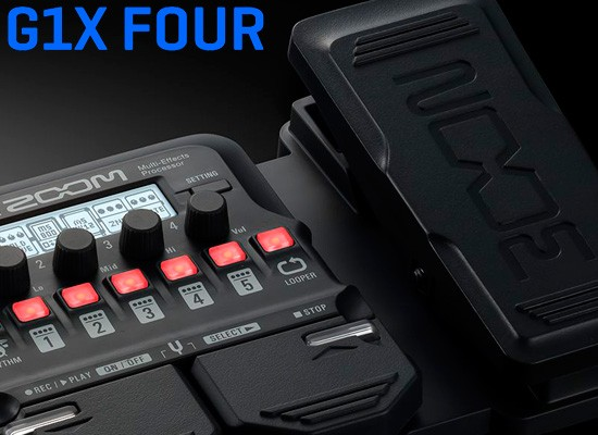 DISPONIBLES: PEDALERAS PARA GUITARRA ZOOM G1X FOUR