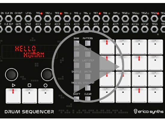 VÍDEO: SINTETIZADOR ERICA SYNTH DRUM SEQUENCER